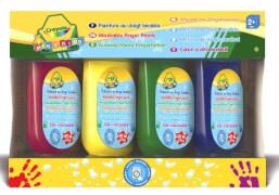 AMIGO 32392 Crayola auswaschbare Fingermalfarbe 4  Tuben - gelb, rot, grün, blau