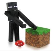 Minecraft Enderman Figur mit Zubehör