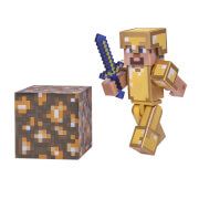 16488 MCR Steve in Goldrüstung mit Accessoirs