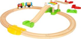 BRIO World 33727 Mein erstes BRIO Bahn Spiel Set Zug mit Waggon, Schienen & Hängebrücke für Kleinkinder BRIO Einsteiger-Set