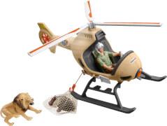 Schleich Wild Life 42476 Helikopter Tierrettung