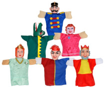 Puppentheater-Figuren im Set
