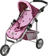 Bayer Chic 2000 - 612 78 Jogging-Buggy Lola, Puppenbuggy, Stars Brombeere