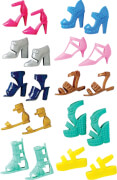 Mattel Barbie - Schuhe, sortiert