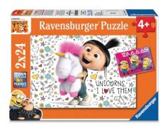 Ravensburger 078110 Puzzle  Agnes & die Minions 2x24 Teile