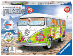 Ravensburger 12532 Puzzle 3D VW Bulli T1 Hippie Edition 162 Teile