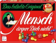 Schmidt Spiele 49020 Mensch Ärgere Dich Nicht, Jubiläums-Ausgabe mit Holzsteinen, 2 bis 6 Spieler, ab 6 Jahre
