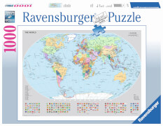 Ravensburger 15652 Puzzle Politische Weltkarte 1000 Teile