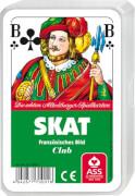 ASS Skat, französisches Bild im Kunststoffetui. Kartenspiel