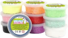 Wolkenschleim® Basic-Set Glitter 10 Dosen á 35g