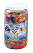HAMA Bügelperlen Maxi - Neon Mix 1400 Perlen (6 Farben) in Aufbewahrungsdose