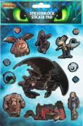 DRRA0060 Dragons Stickerblock mit 8 Blättern von Undercover