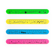 RELAX & BE CLEVER Snap It- Lineal 18cm, 4-fach sortiert