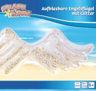 Splash & Fun aufblasbare Engelsflügel mit Glitter
