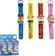 Paw Patrol LED Uhr mit Relieffigur 6,5x21 cm - 4 Charaktere sortiert: Chase, Mar